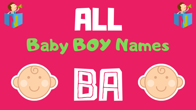 Baby Boy names starting with 'Ba' - NamesLook