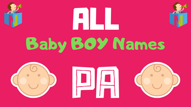 Baby Boy names starting with 'Pa' - NamesLook