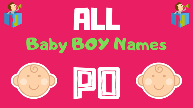Baby Boy names starting with 'Po' - NamesLook