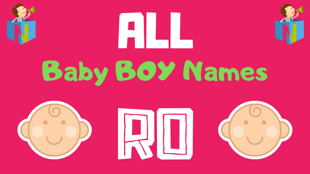 Baby Boy names starting with 'Ro' - NamesLook