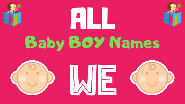 Baby Boy names starting with We - NamesLook