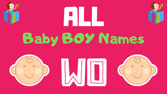 Baby Boy names starting with Wo - NamesLook