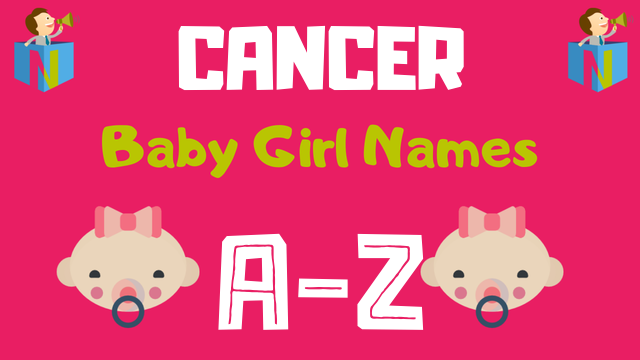Baby Girl Names for Cancer Zodiac - NamesLook