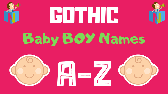 Gothic Baby Boy Names | 19 Names Available - NamesLook